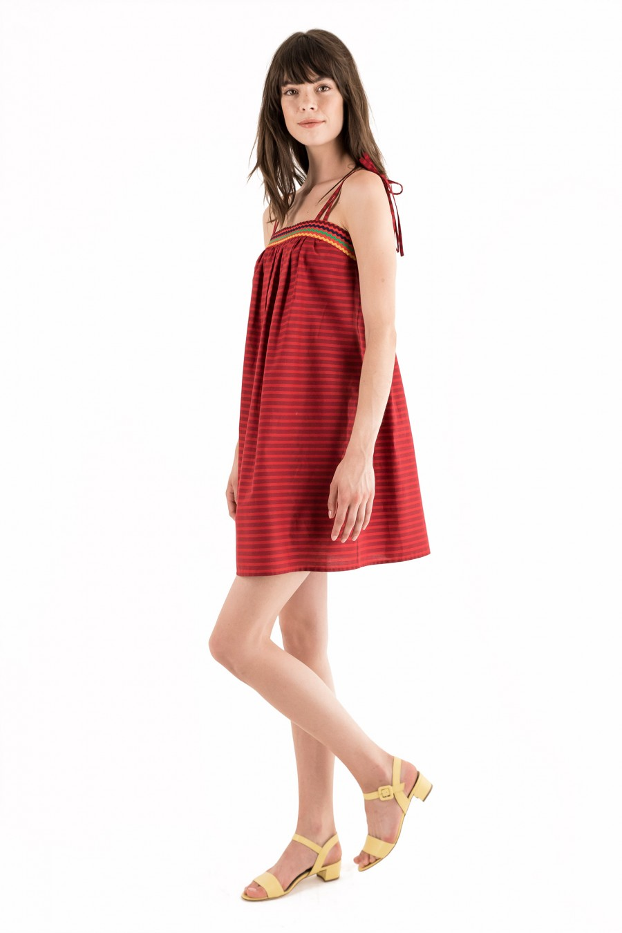 Light cotton dress with trimmings