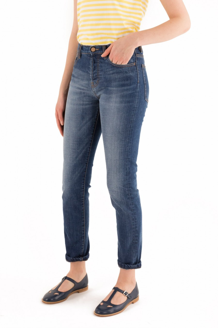 Pantalone 5 tasche denim wedgie fit Lazzari