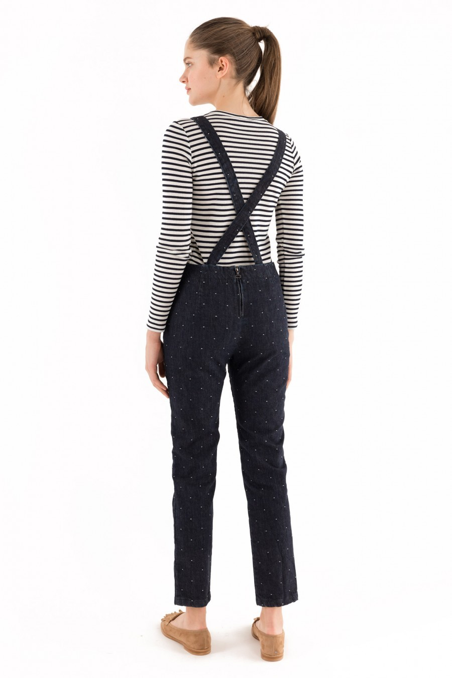 Dark denim overalls Lazzari Spring