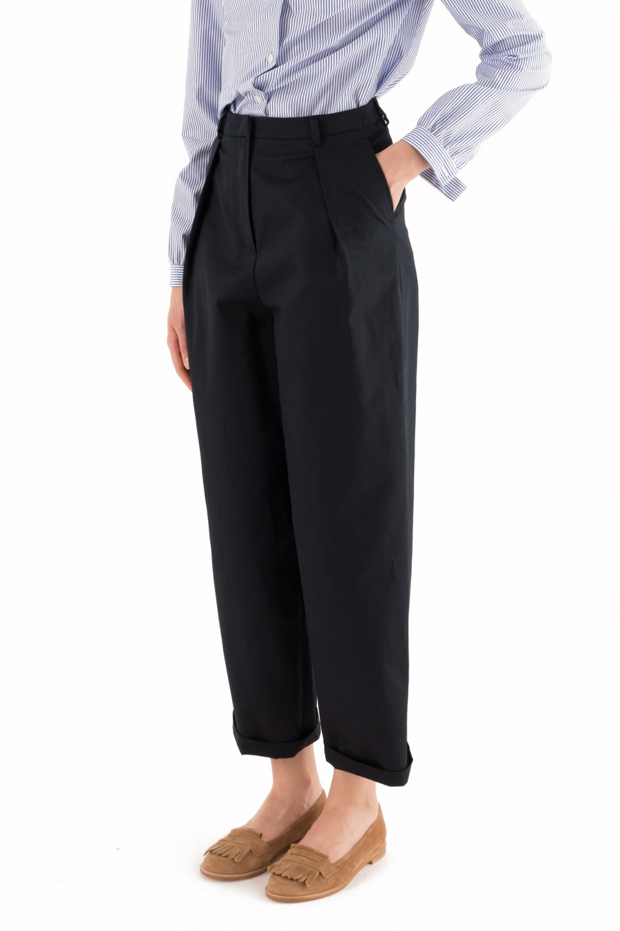 Trousers with pleats Lazzari
