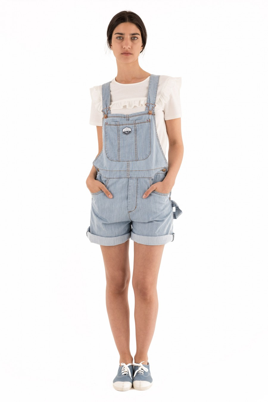 tight fitting overalls