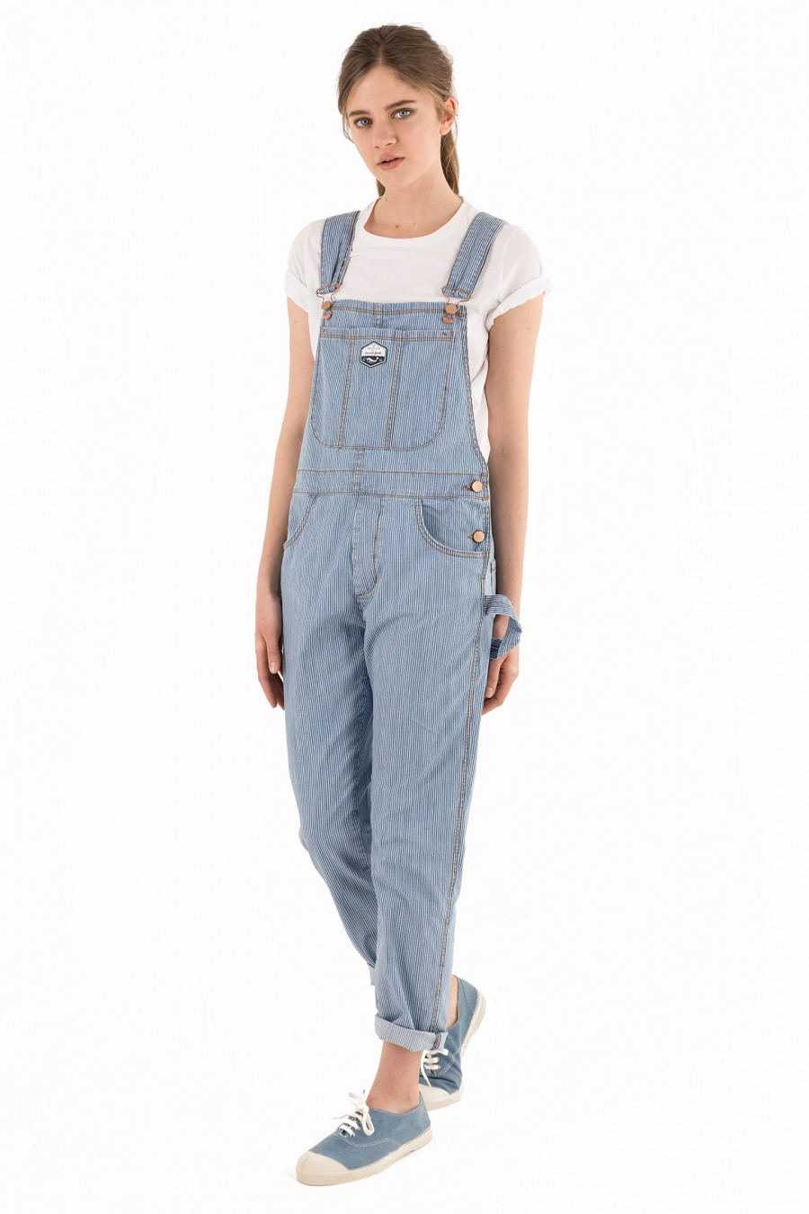 Tight fitting long overalls
