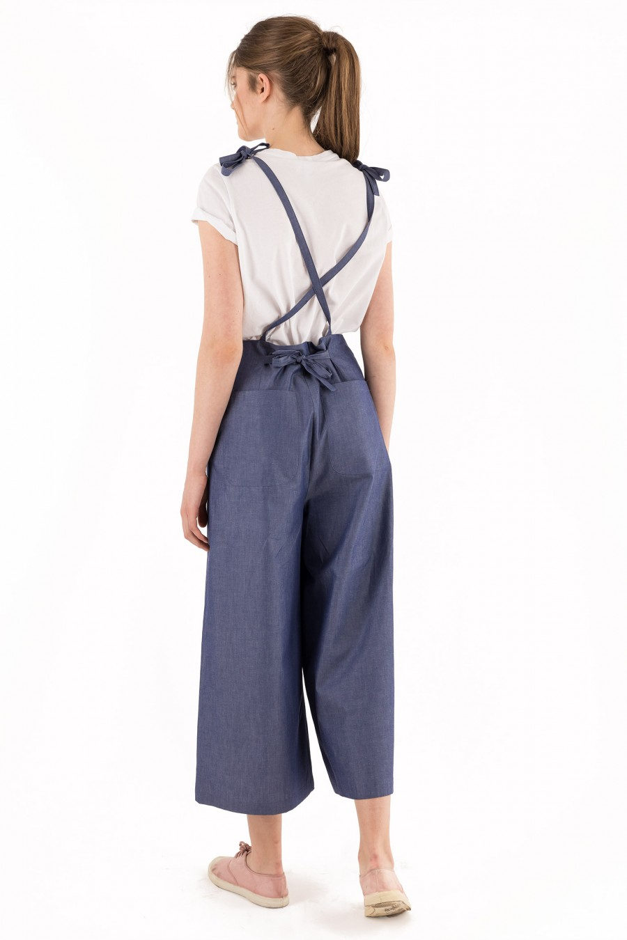 Summer overalls with ribbons