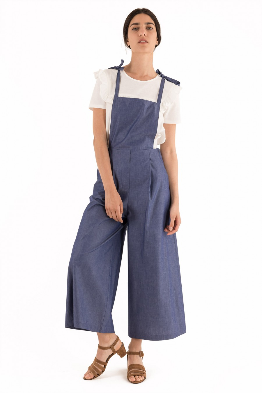 Cotton blue overalls