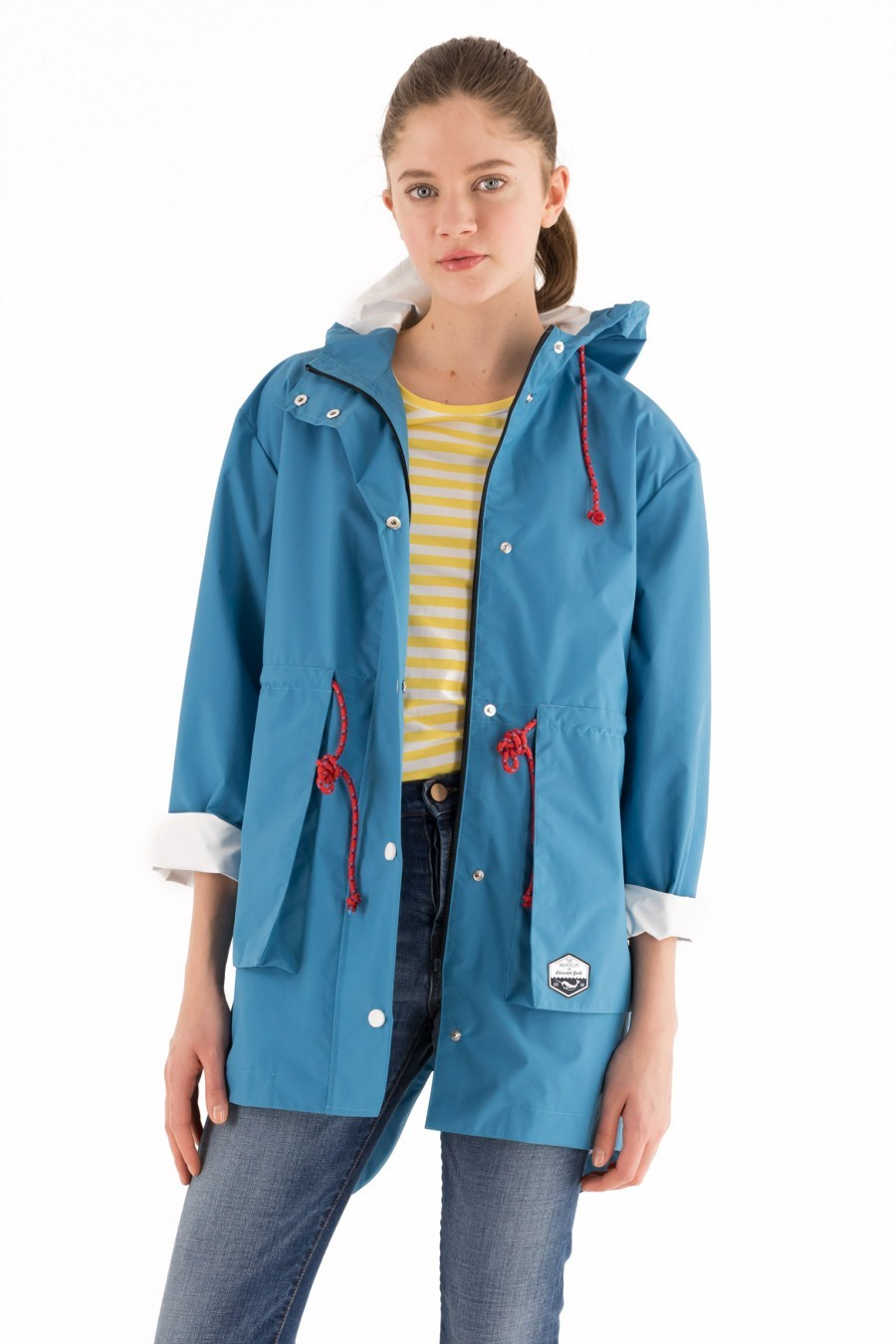 rain jacket light blue Lazzari