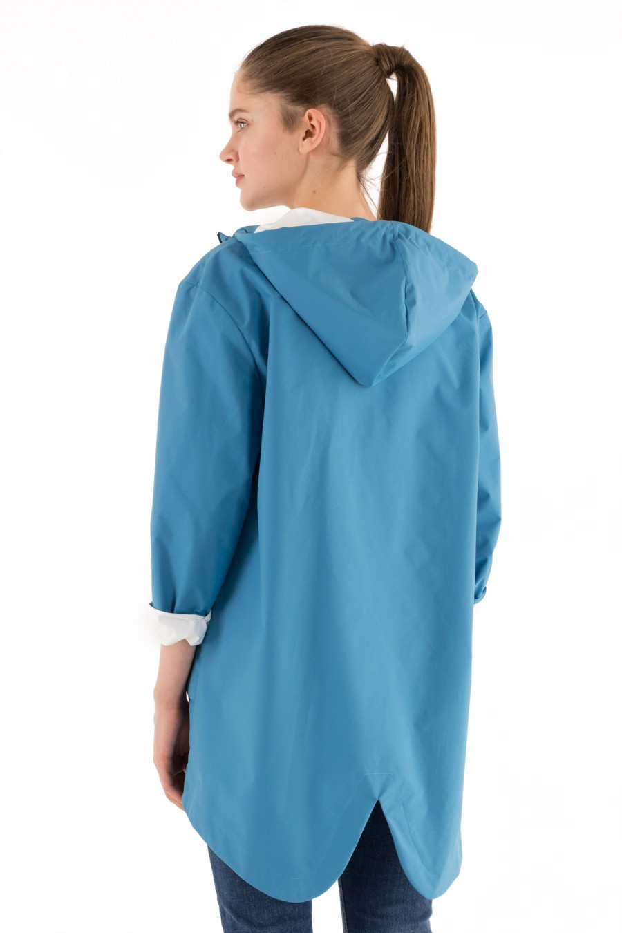 rain jacket Lazzari light blue