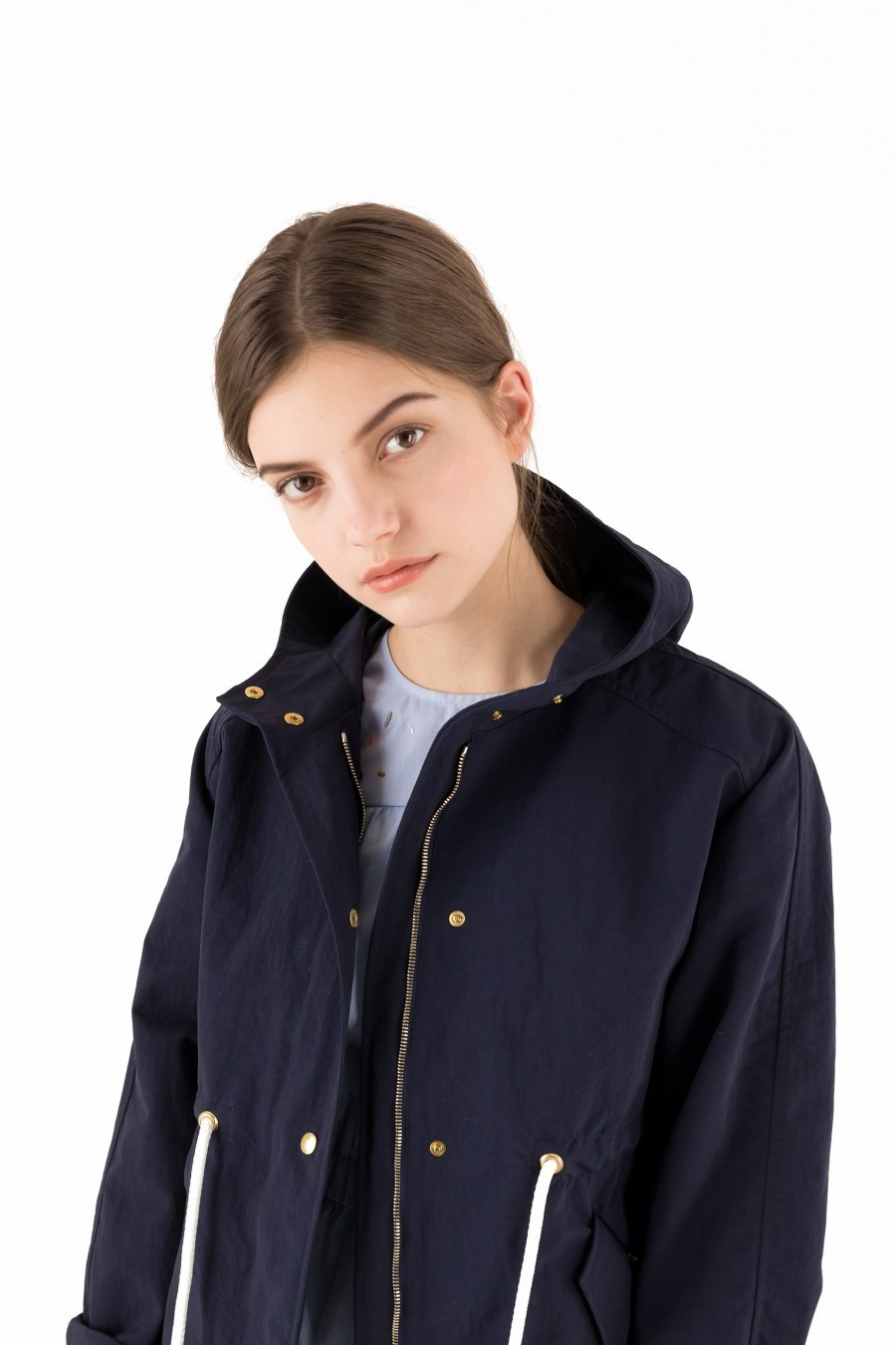 sporty trench coat hood lazzari