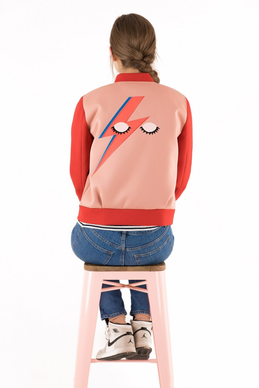 bomber jacket pink red