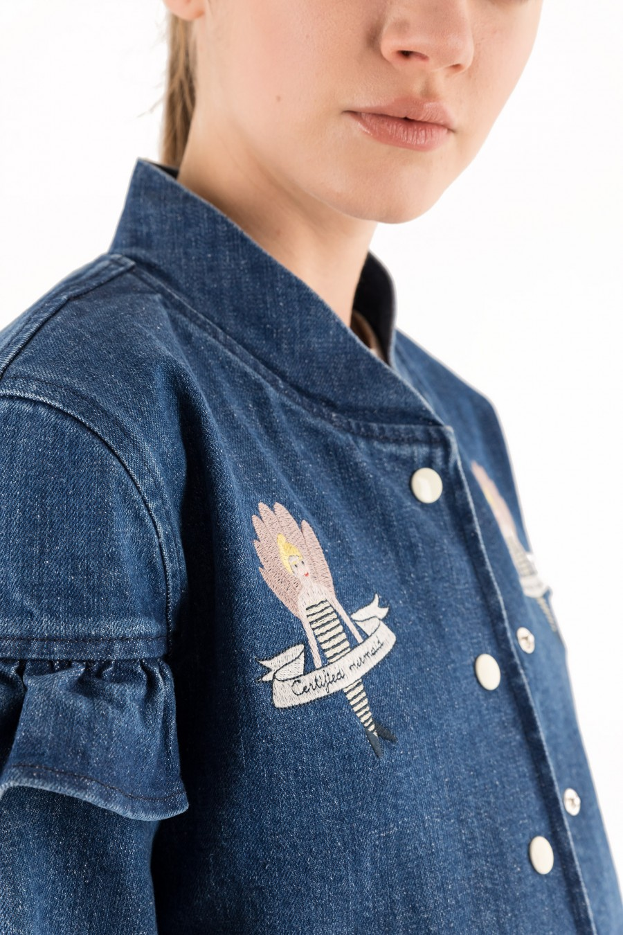 Giacca in jeans con ricami