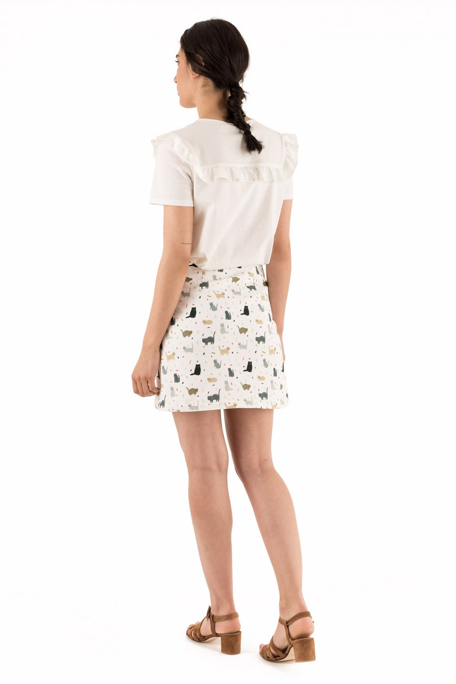 Short skirt with cats