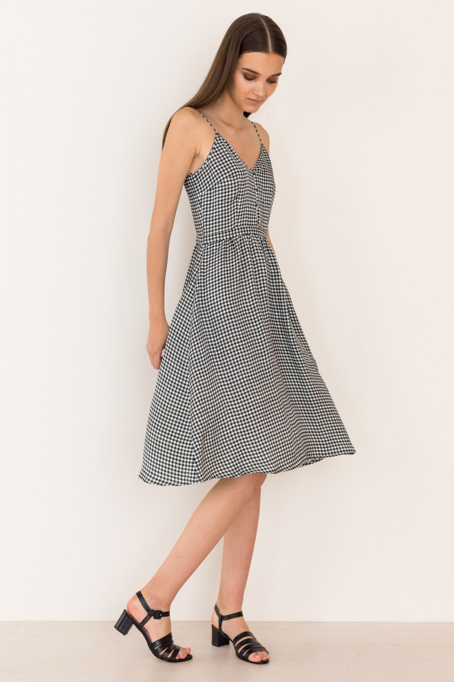 Dress with  thin shoulder straps