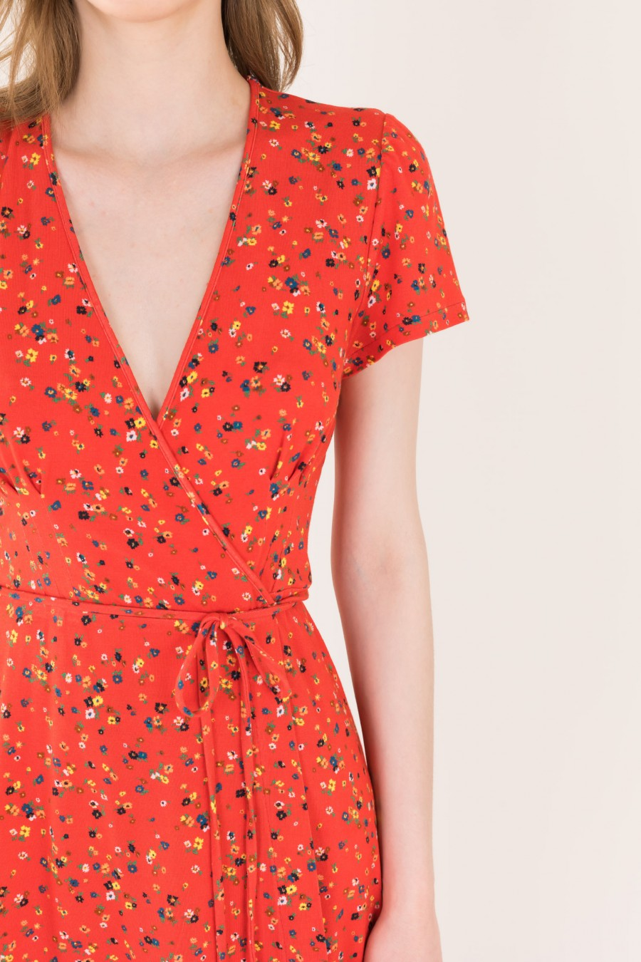 Flowered Wrapped dress