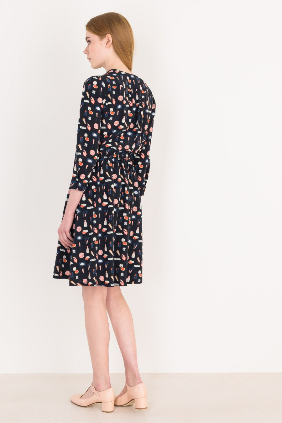 Midi dress with illustrations