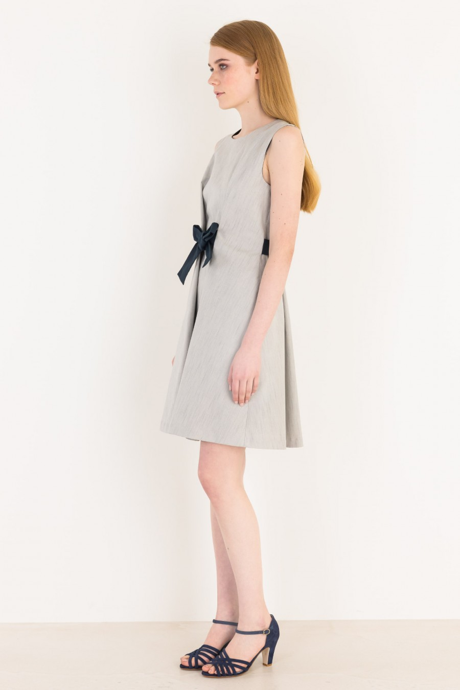 Summer vintage grey dress
