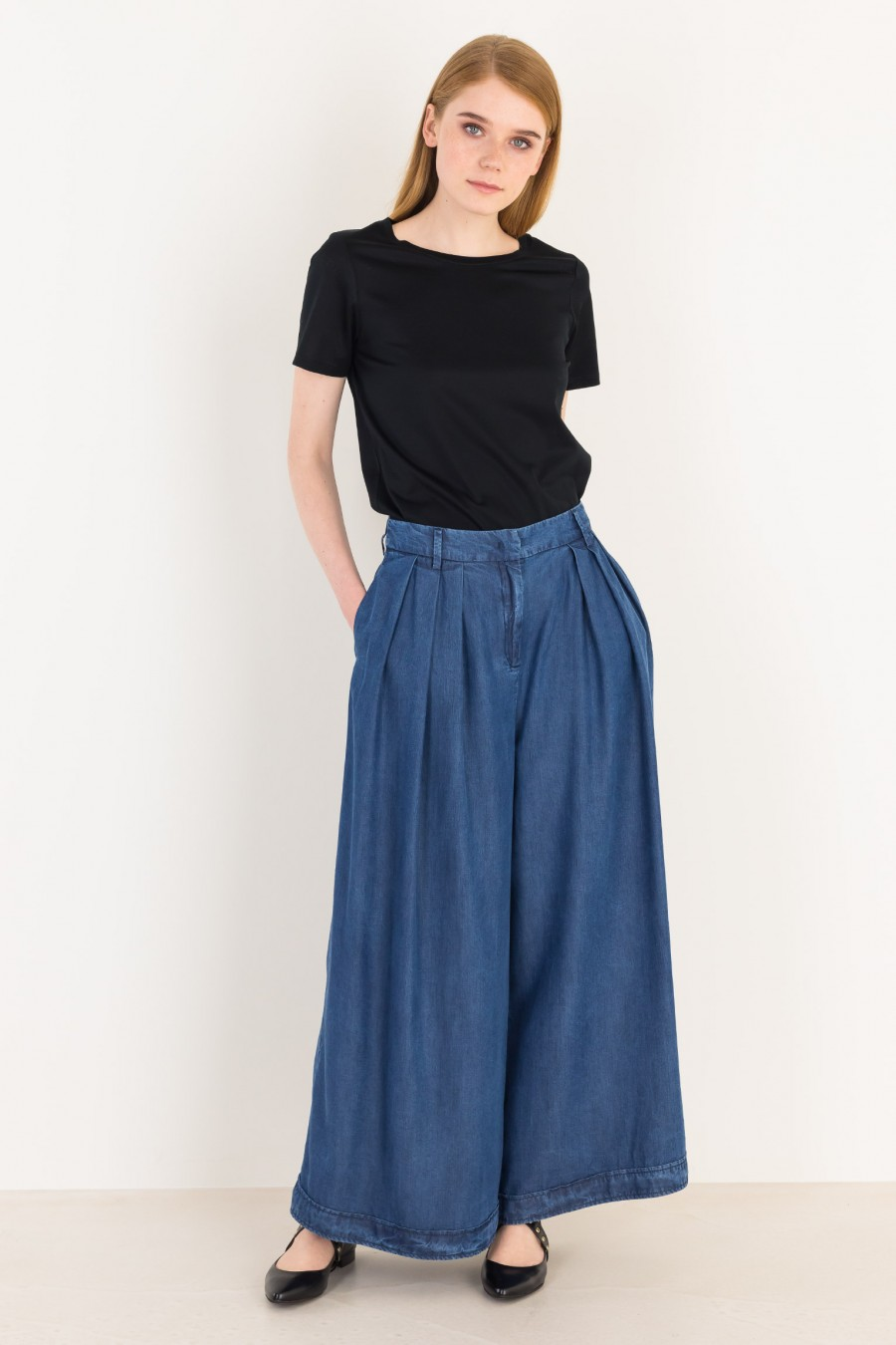 Gonna pantalone in jeans