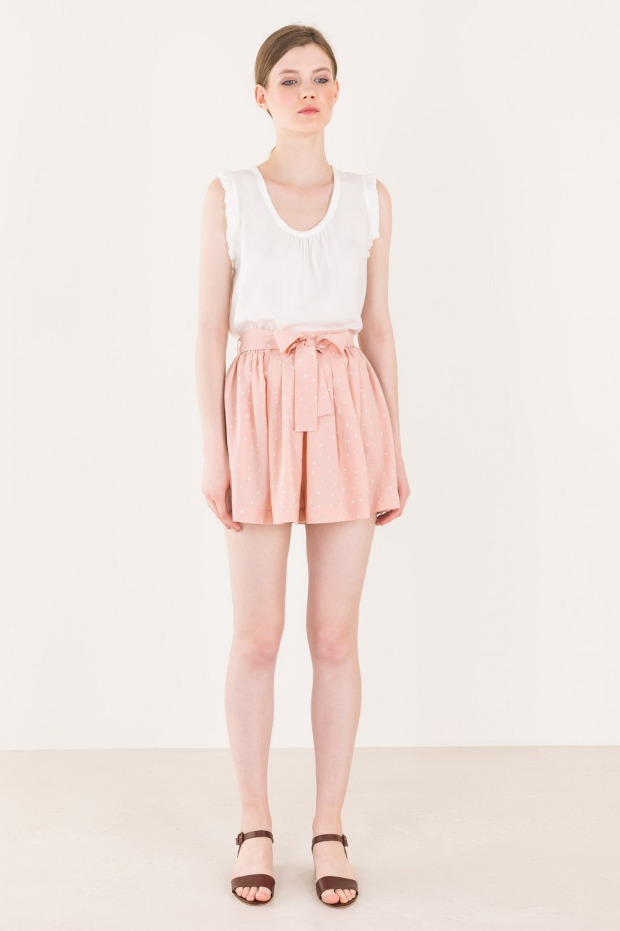 Pink shorts with white stars