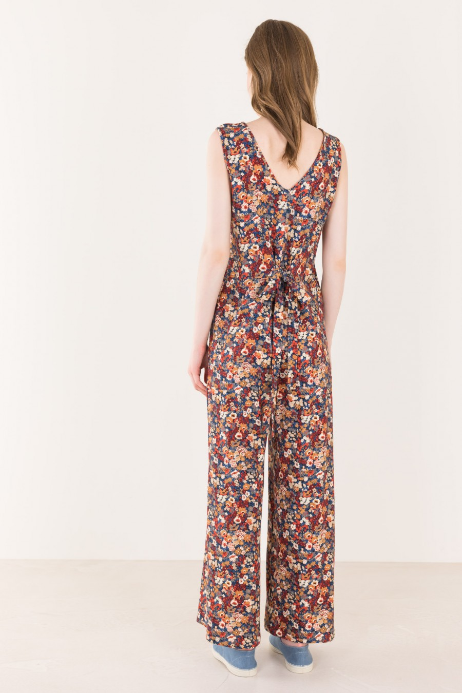 Long overalls in soft fabric