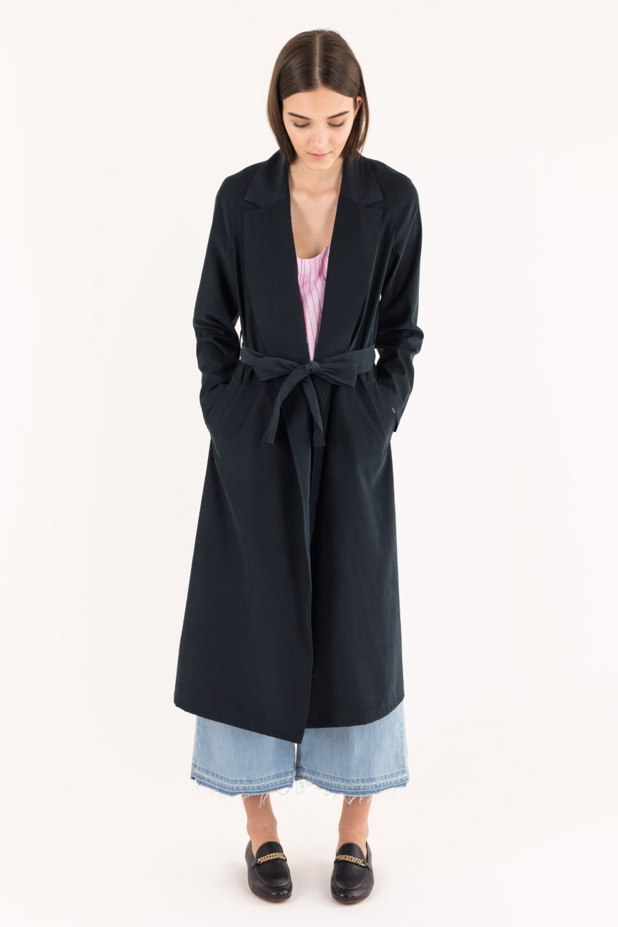 Blue elegant overcoat