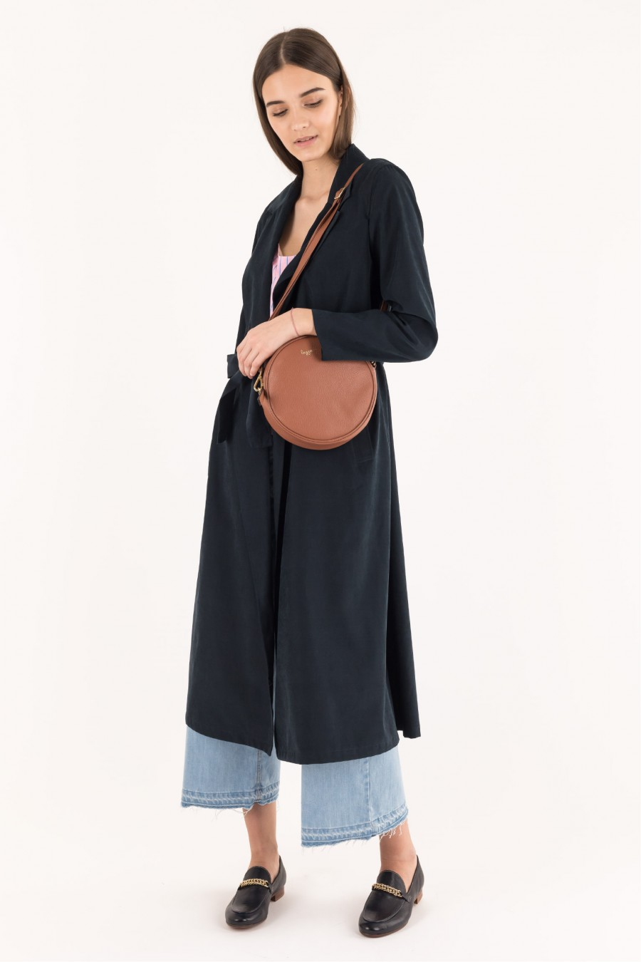 Blue long overcoat