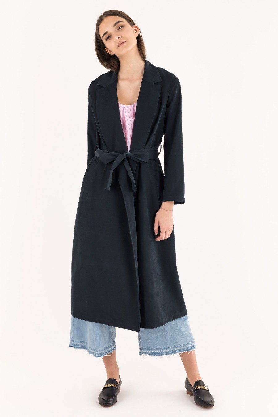 Elegant long overcoat