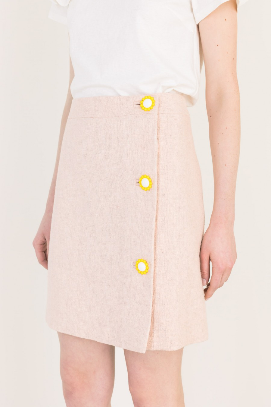 Pale pink wrap-over skirt