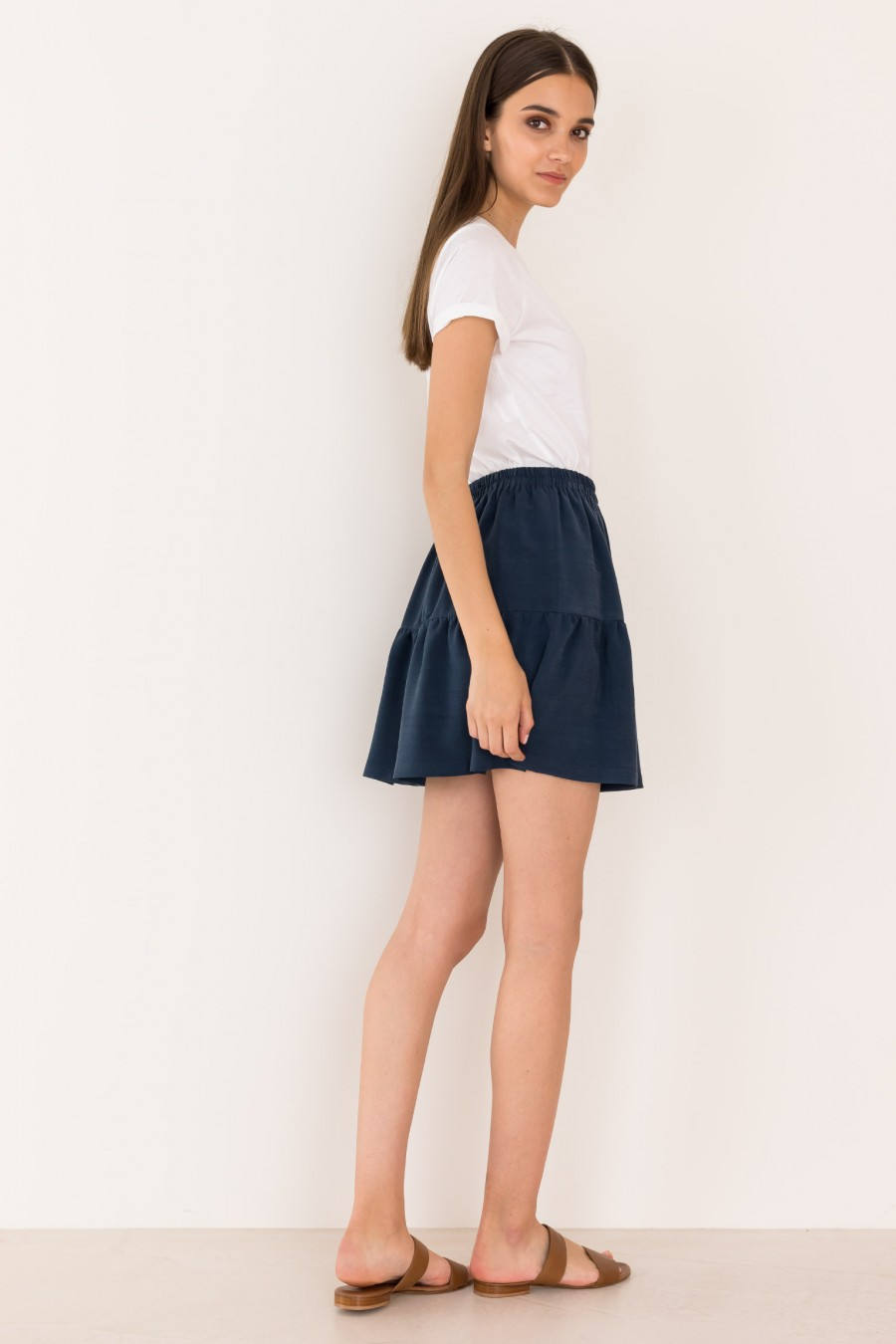 Blue skirt with ruffle