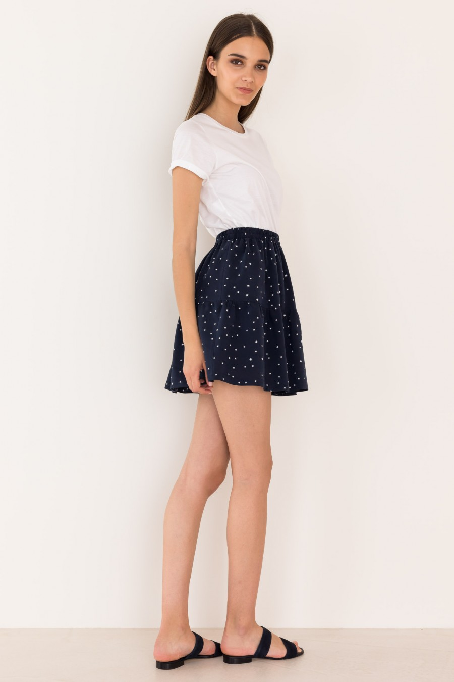 Blue skirt with elastic band