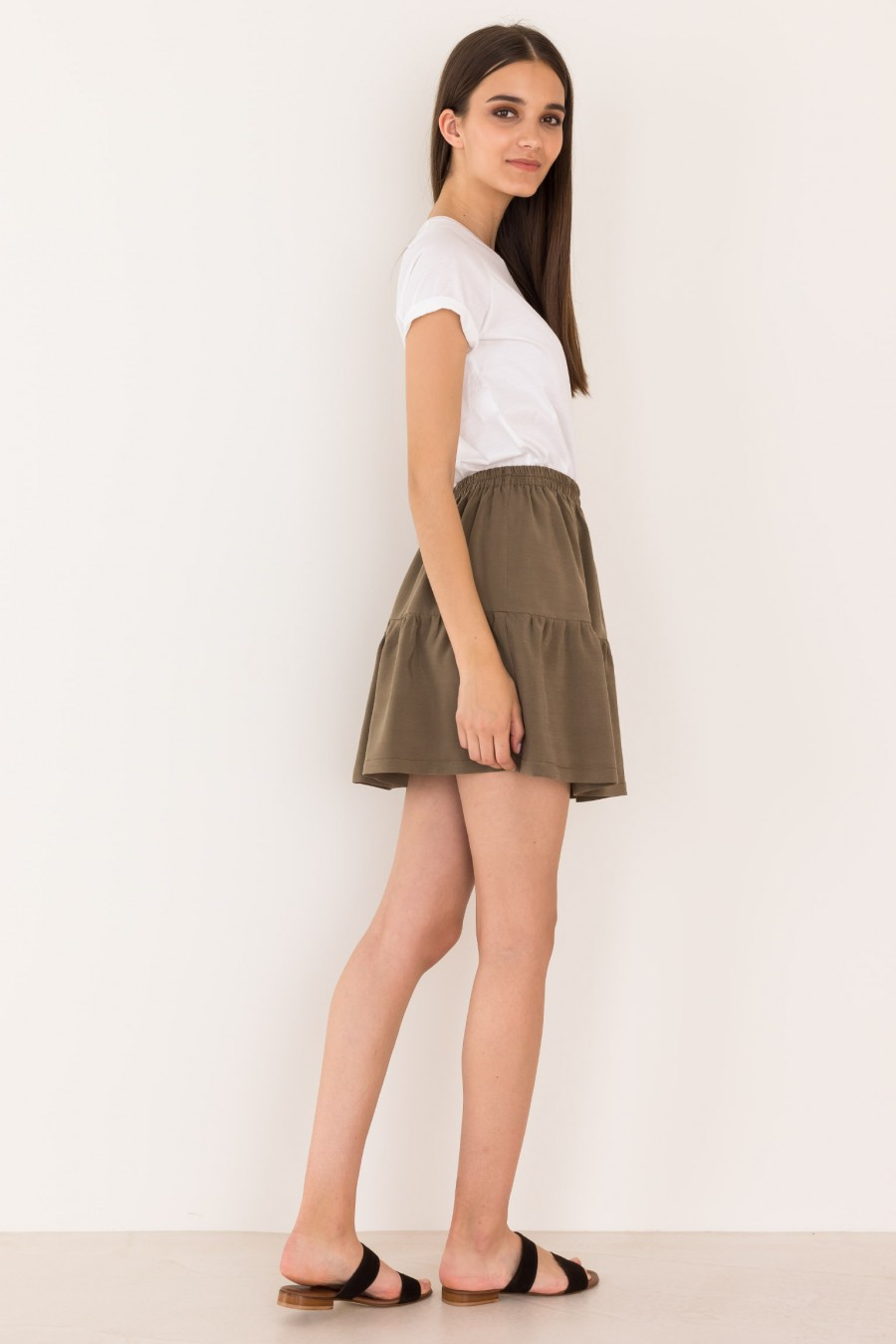 Green skirt with elastic band