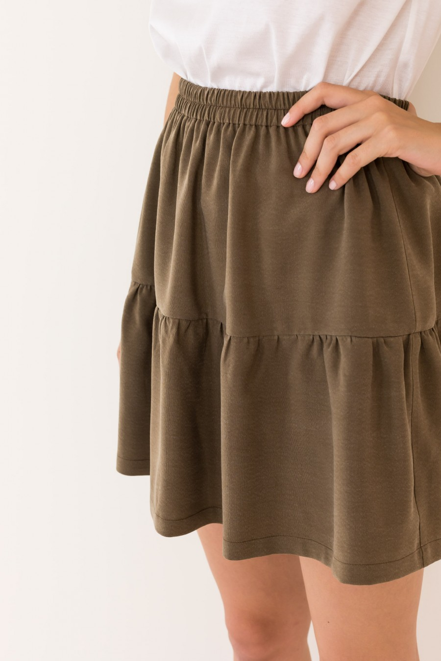 Geen skirt with ruffle