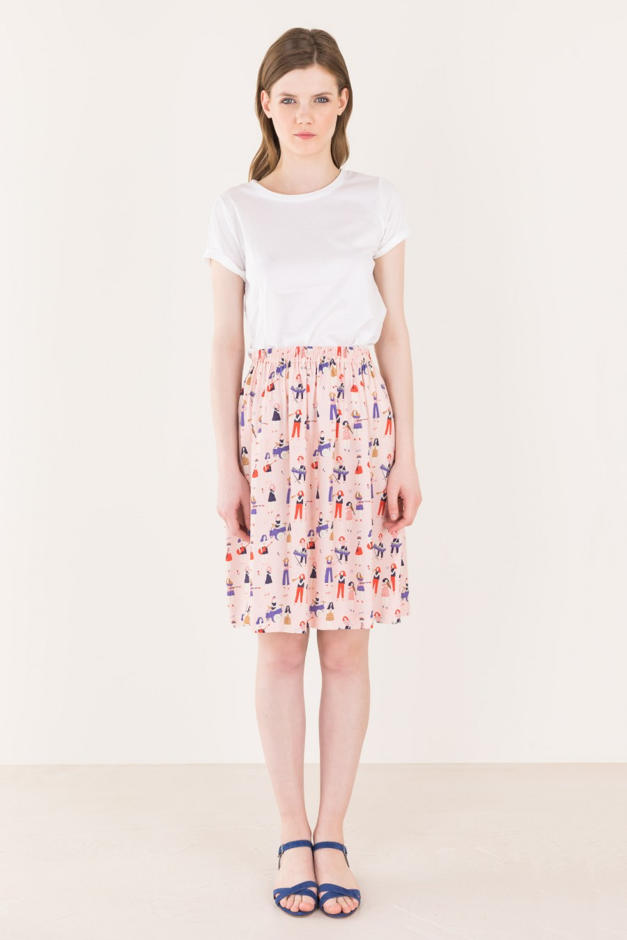 Pink skirt with