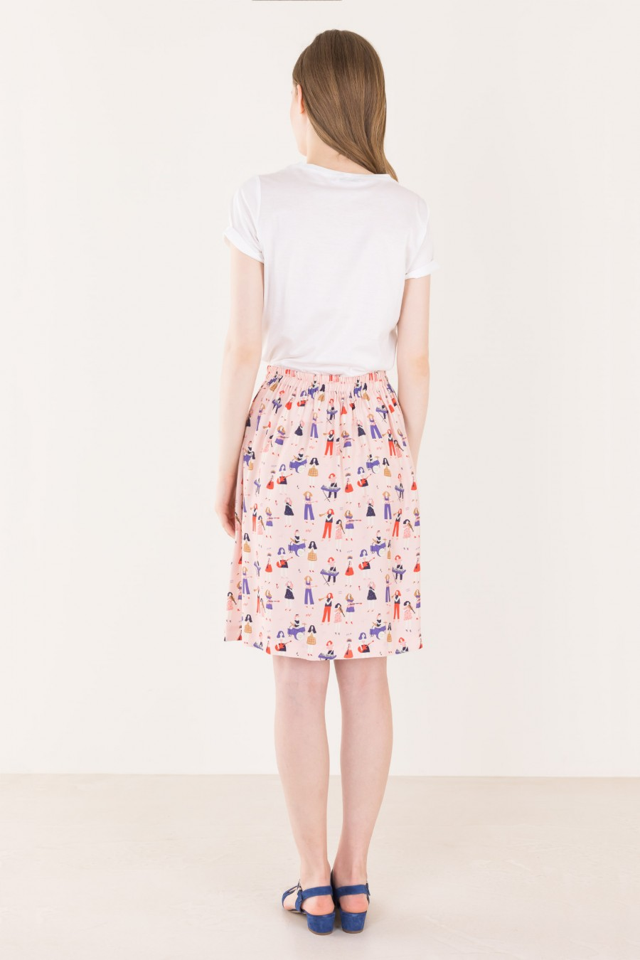 Pink skirt with elastic band