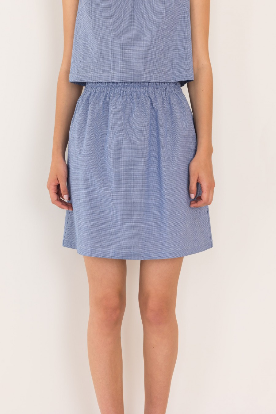 Skirt in linen and cotton