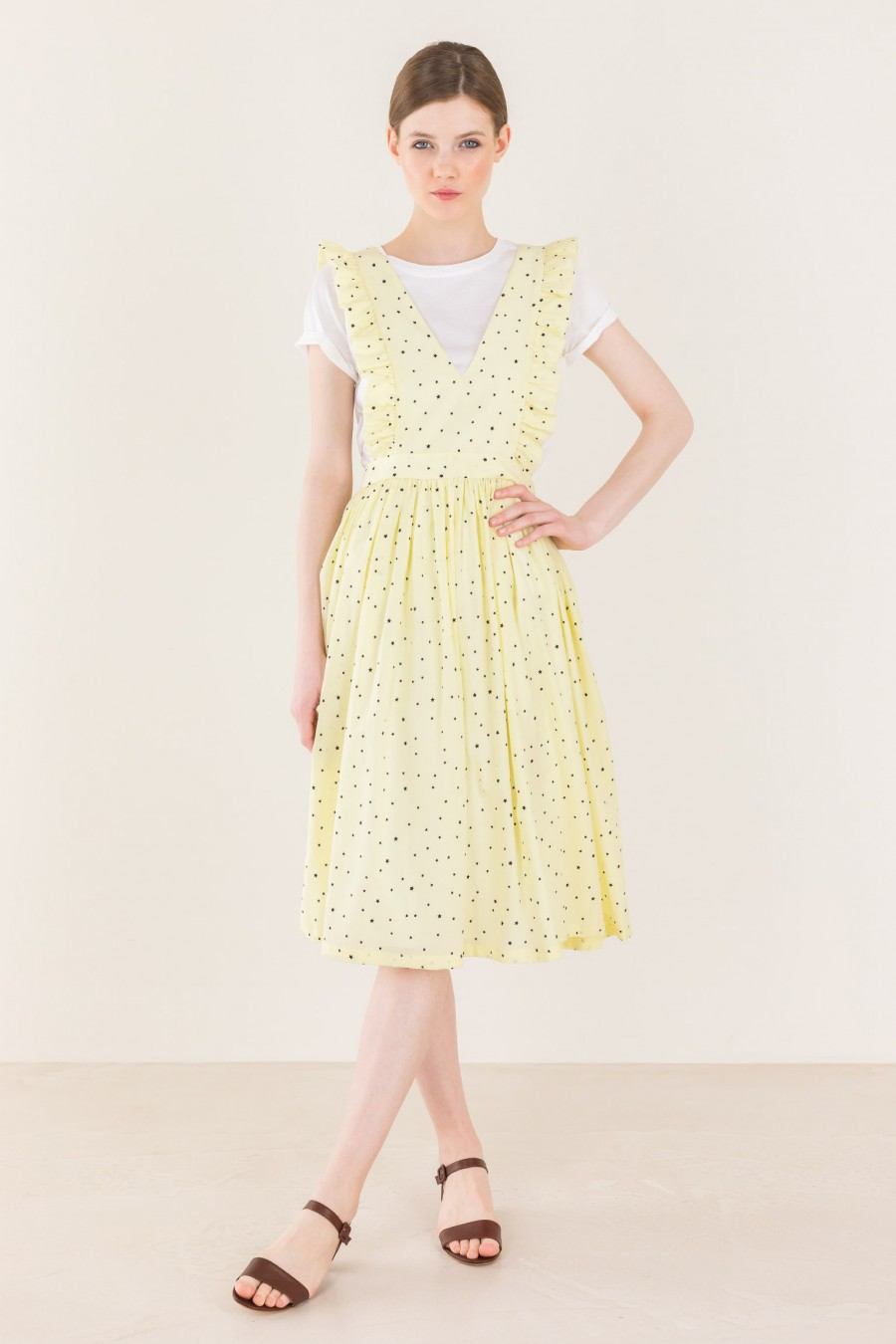Dungarees dress with stars