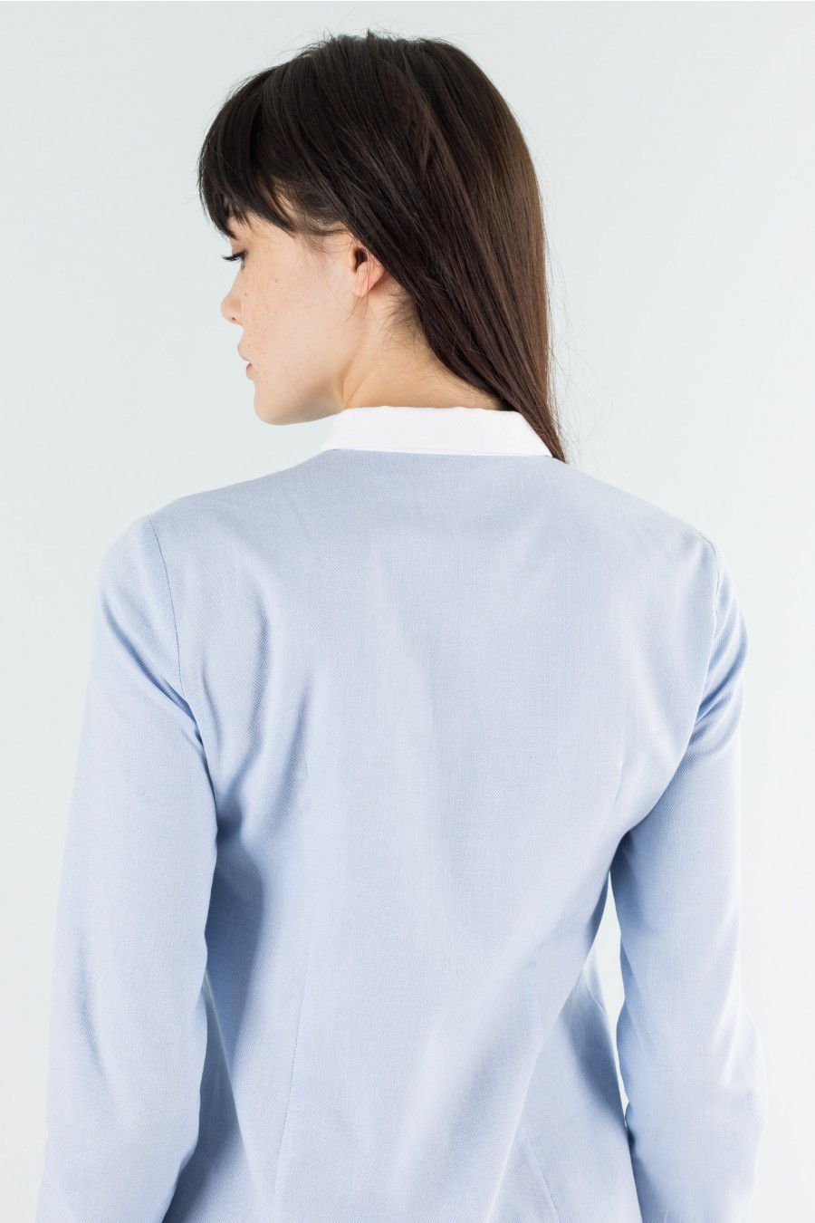 White contrasting collar shirt