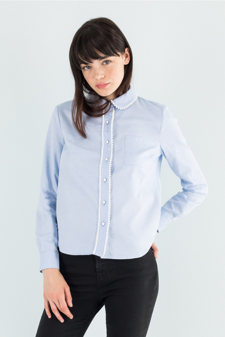 Light blue shirt in Oxford fabric