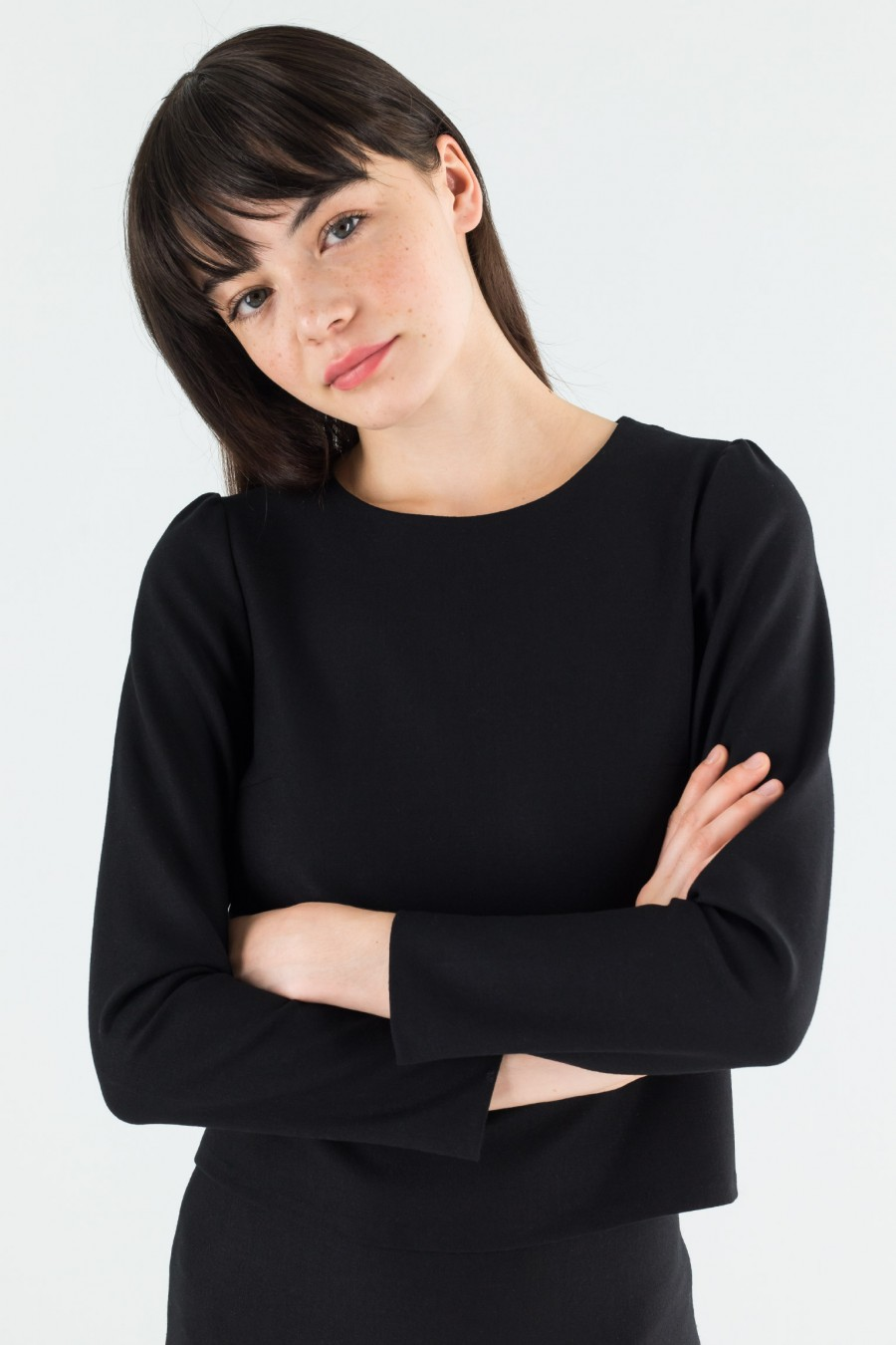 Black long sleeved top