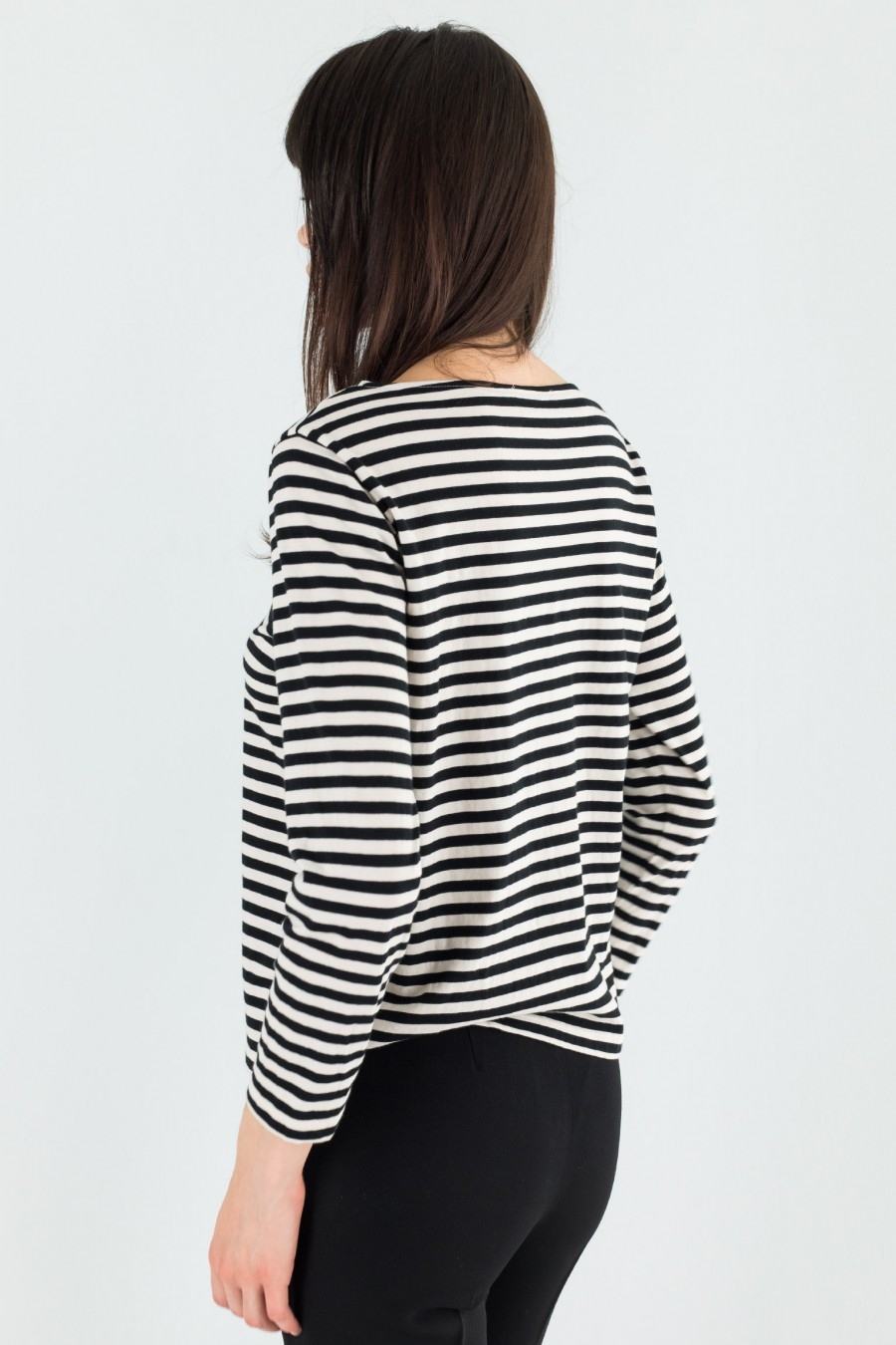 Lazzari cotton striped t-shirt