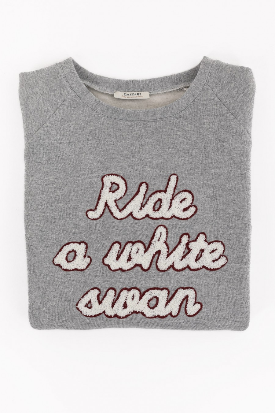 Gray Ride a White sweater