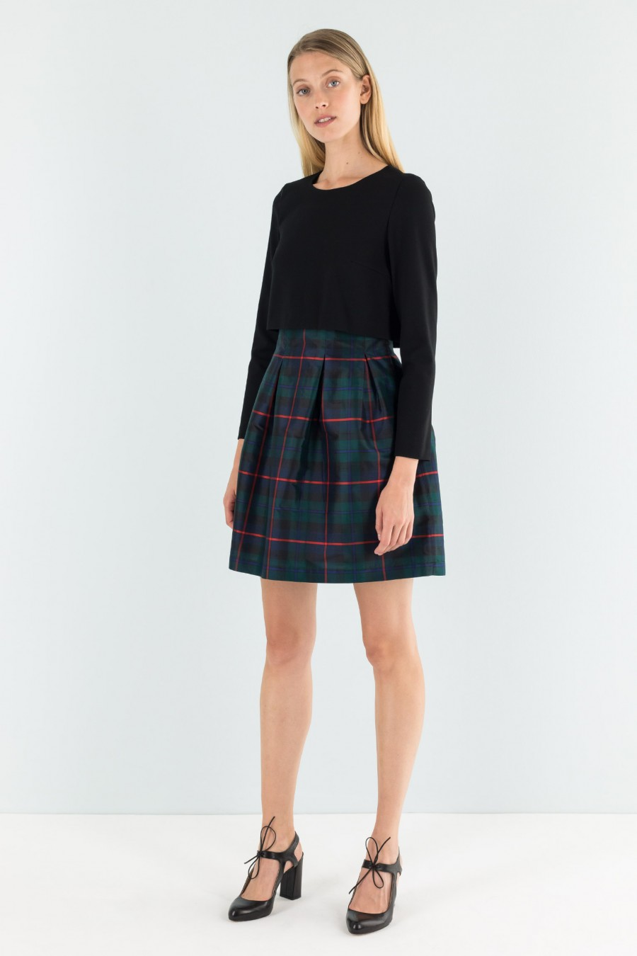 Dress with top in Milano stitch jersey
