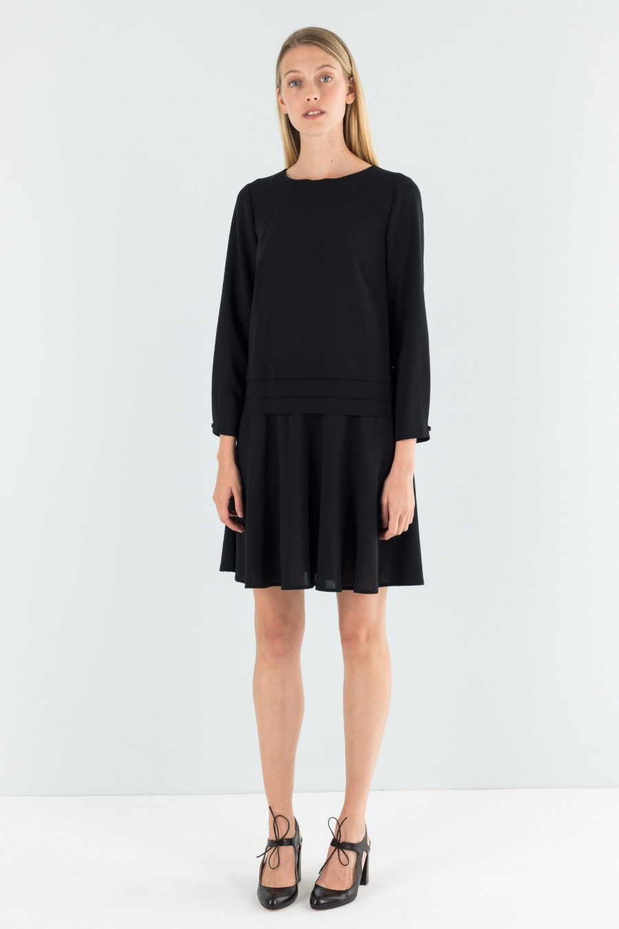 Lazzari fall black dress