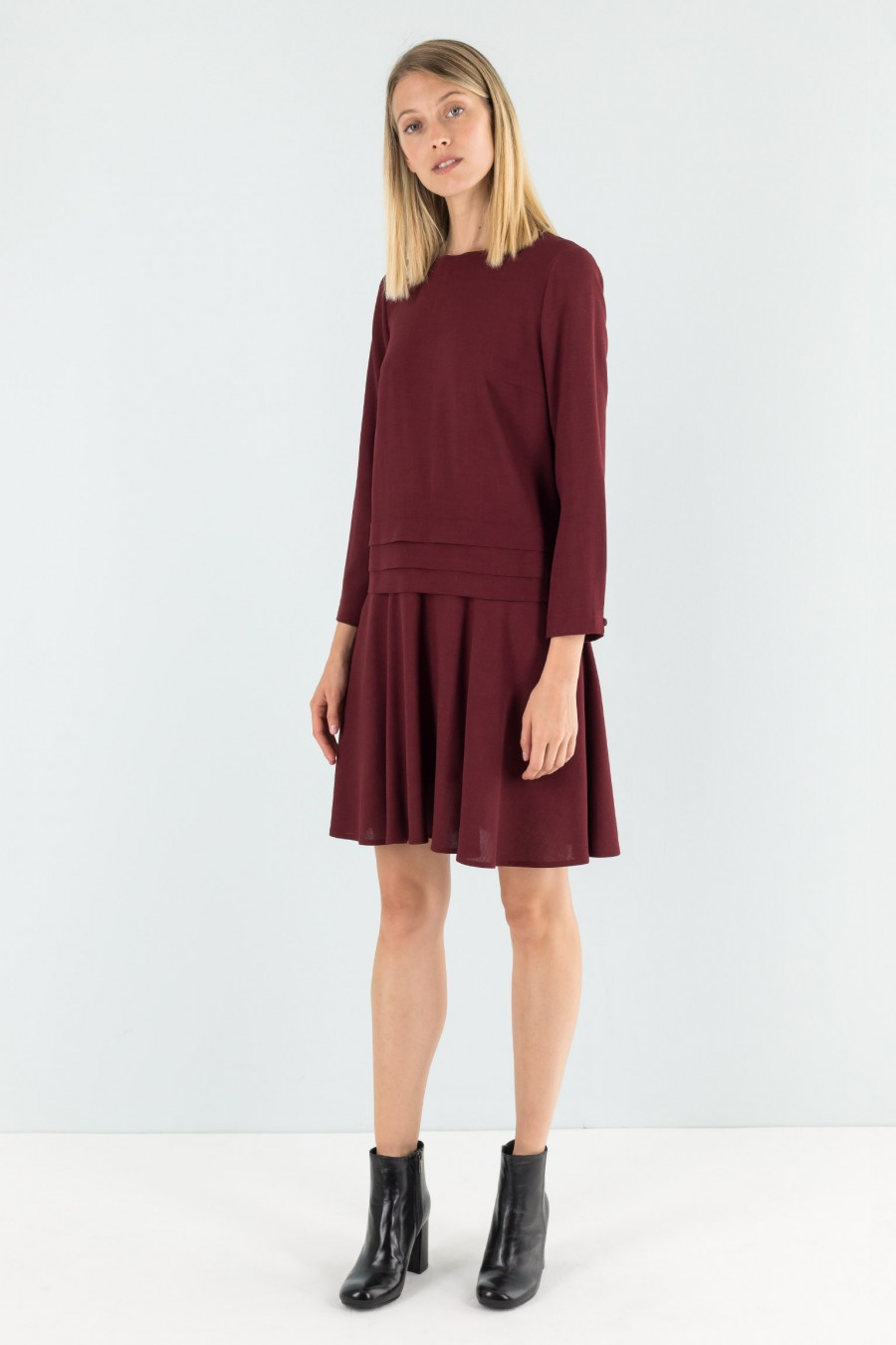 Lazzari fall burgundy dress