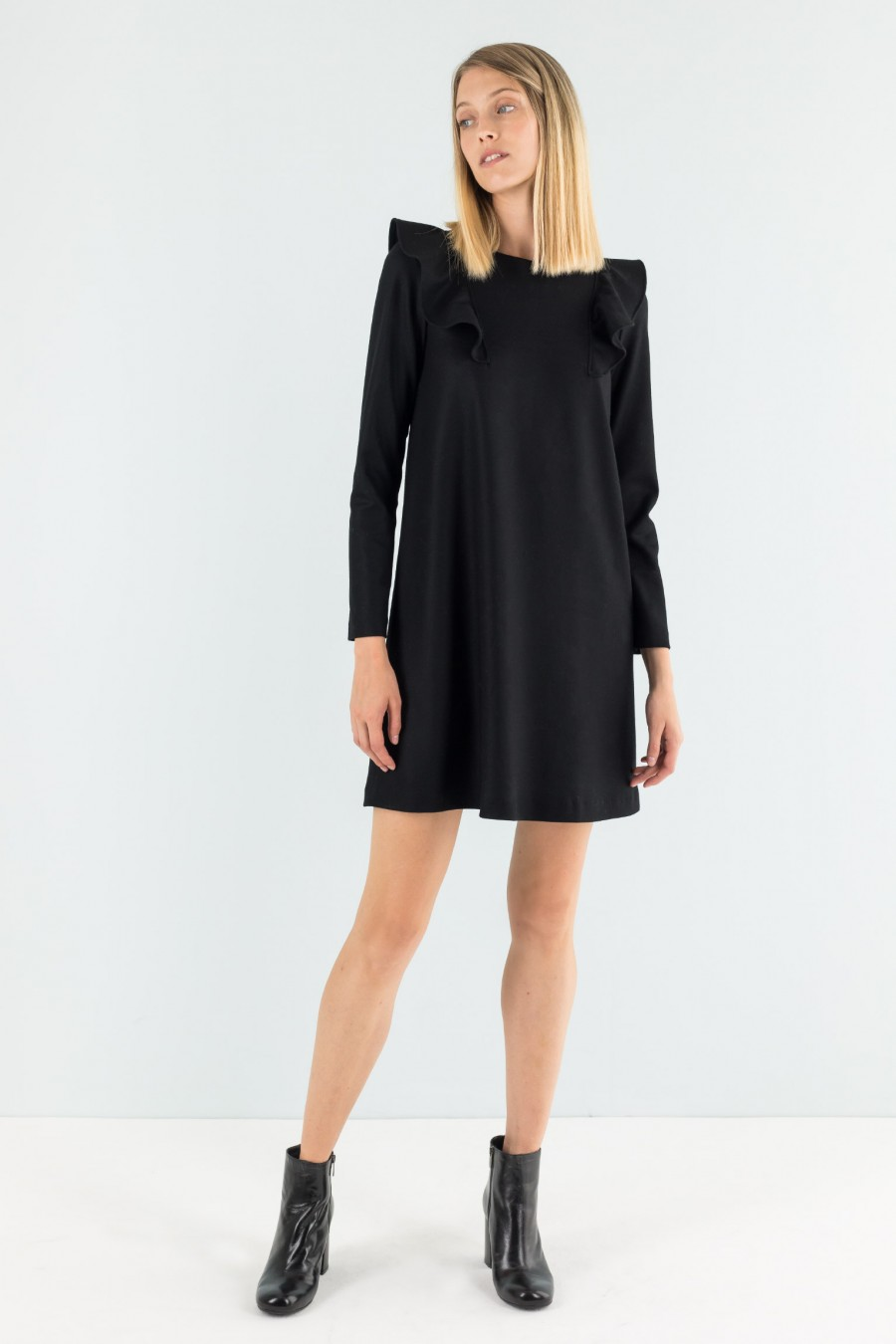 Lazzari a-line wool dress