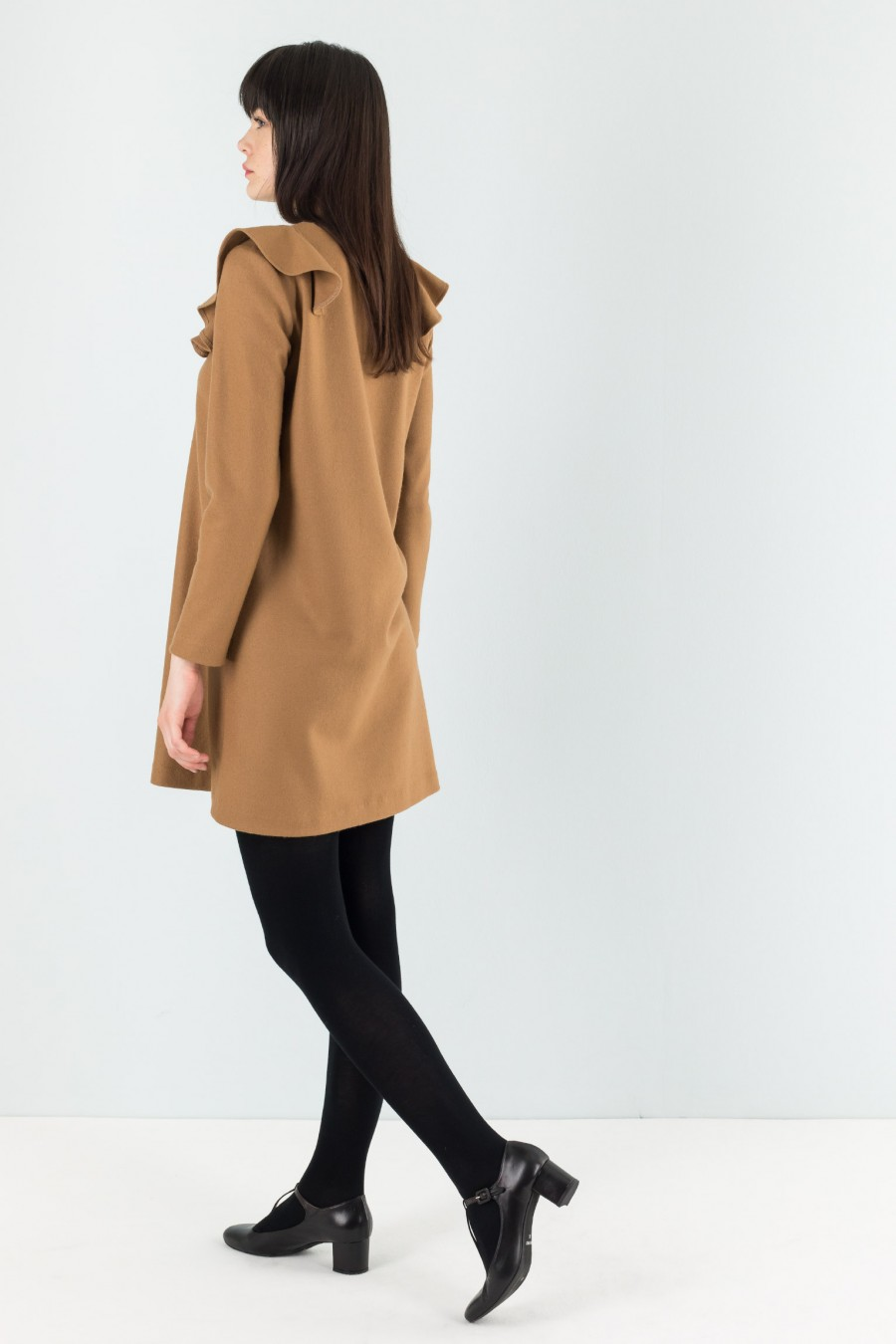 Lazzari wool brown dress