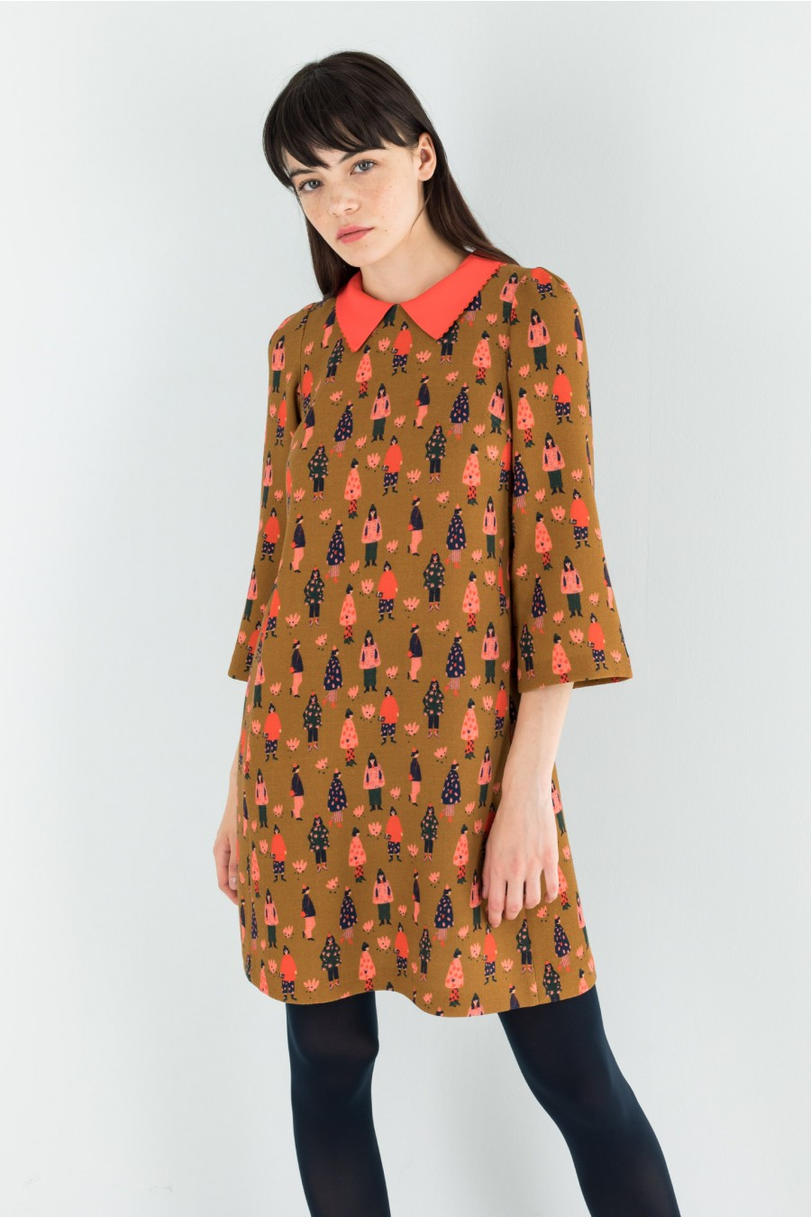 60s dress with detachable collar