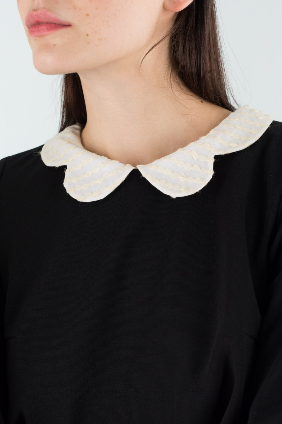 Lazzari dress with embroidered collar