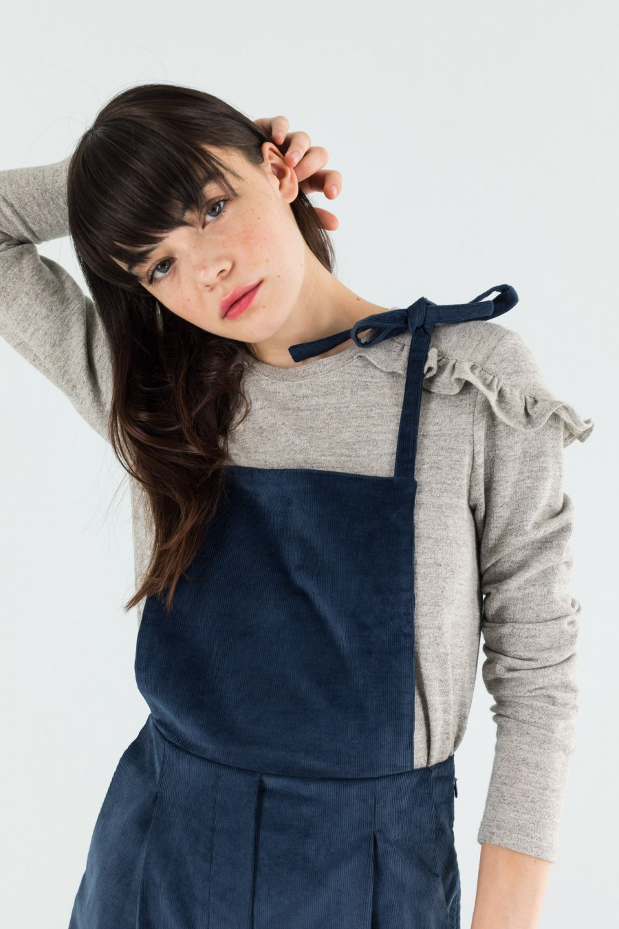 Navy blue overalls