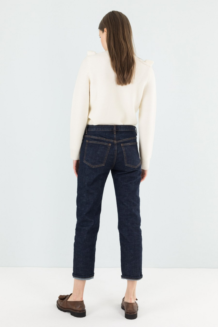 Jeans cimosato mom fit