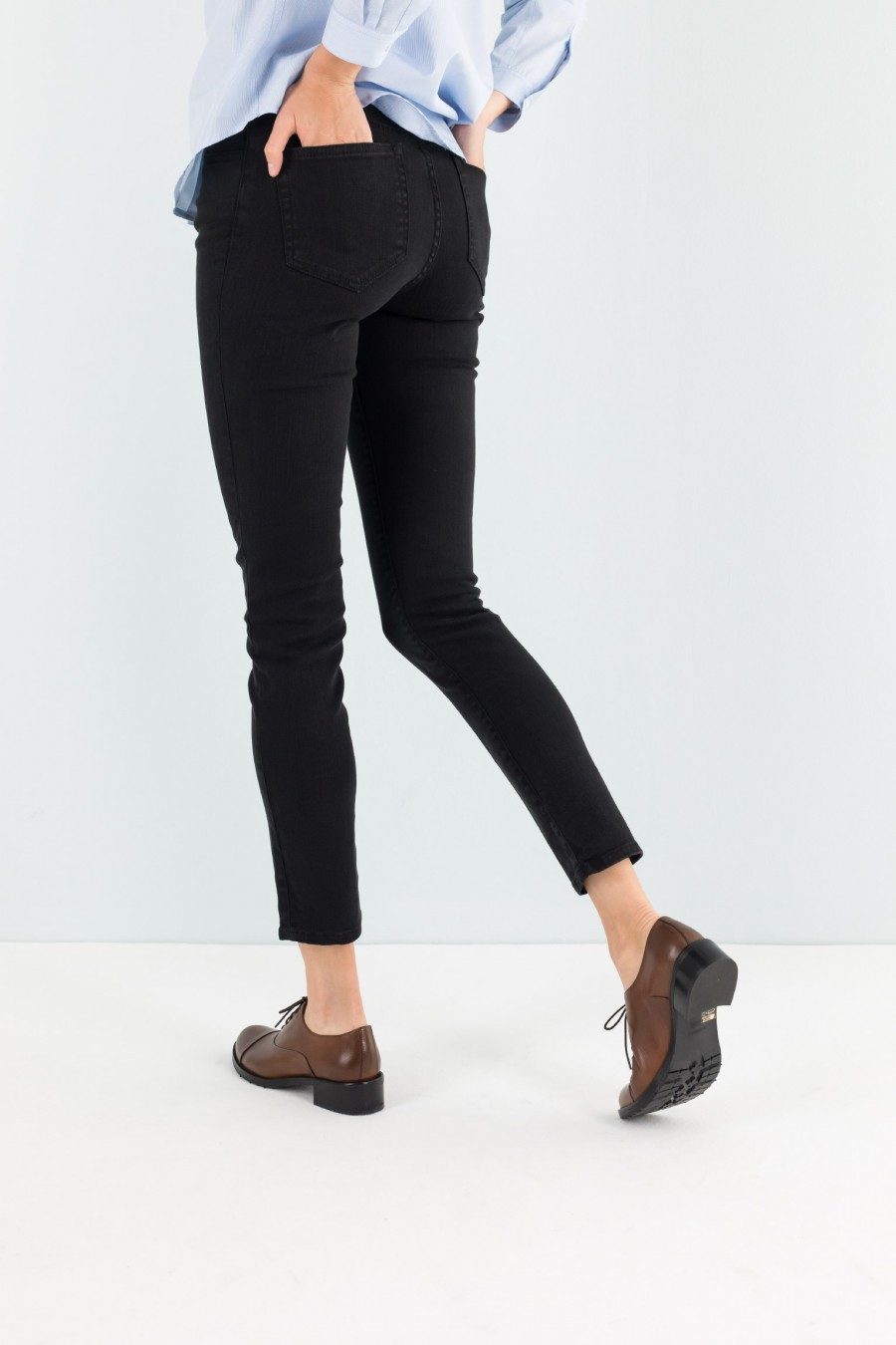 Pantalone in denim nero