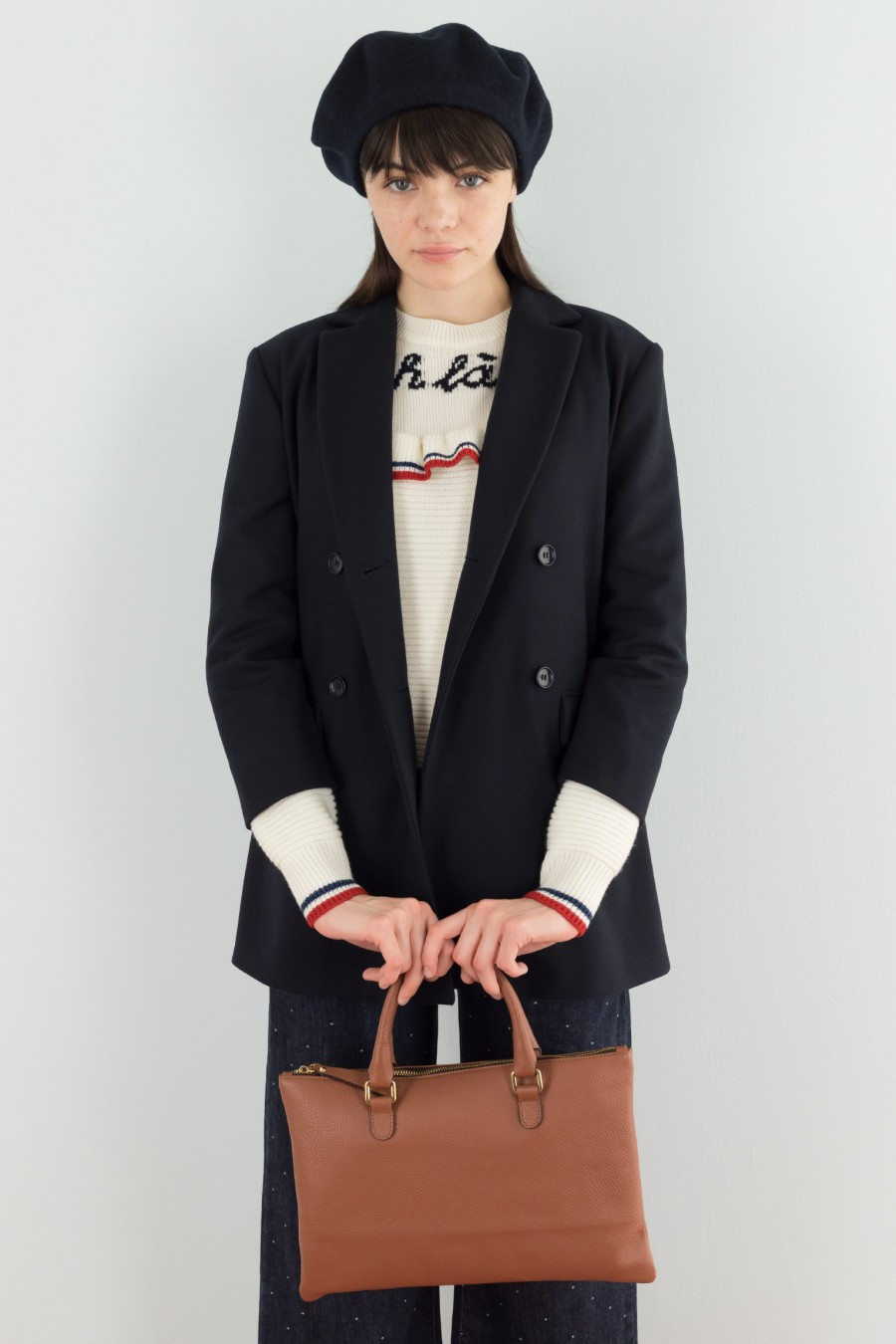 Wool and cashmere blazer