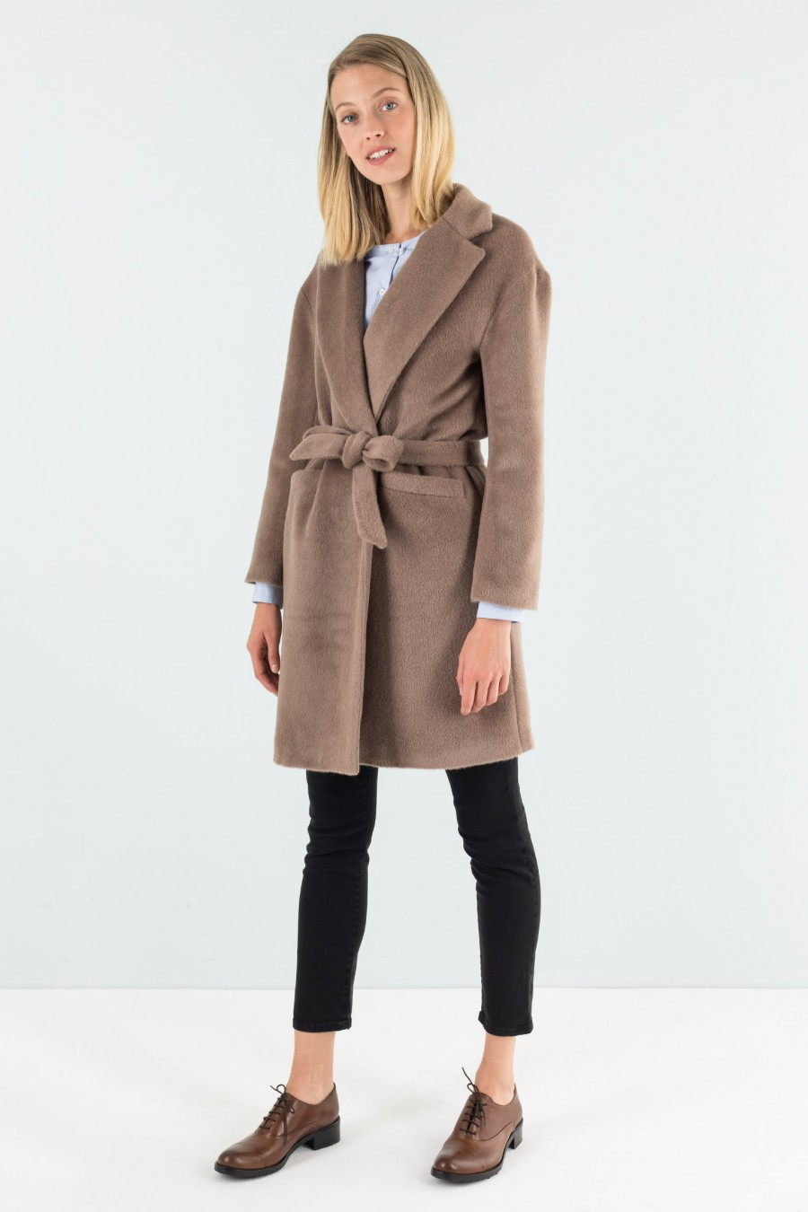 Camel brown warm coat